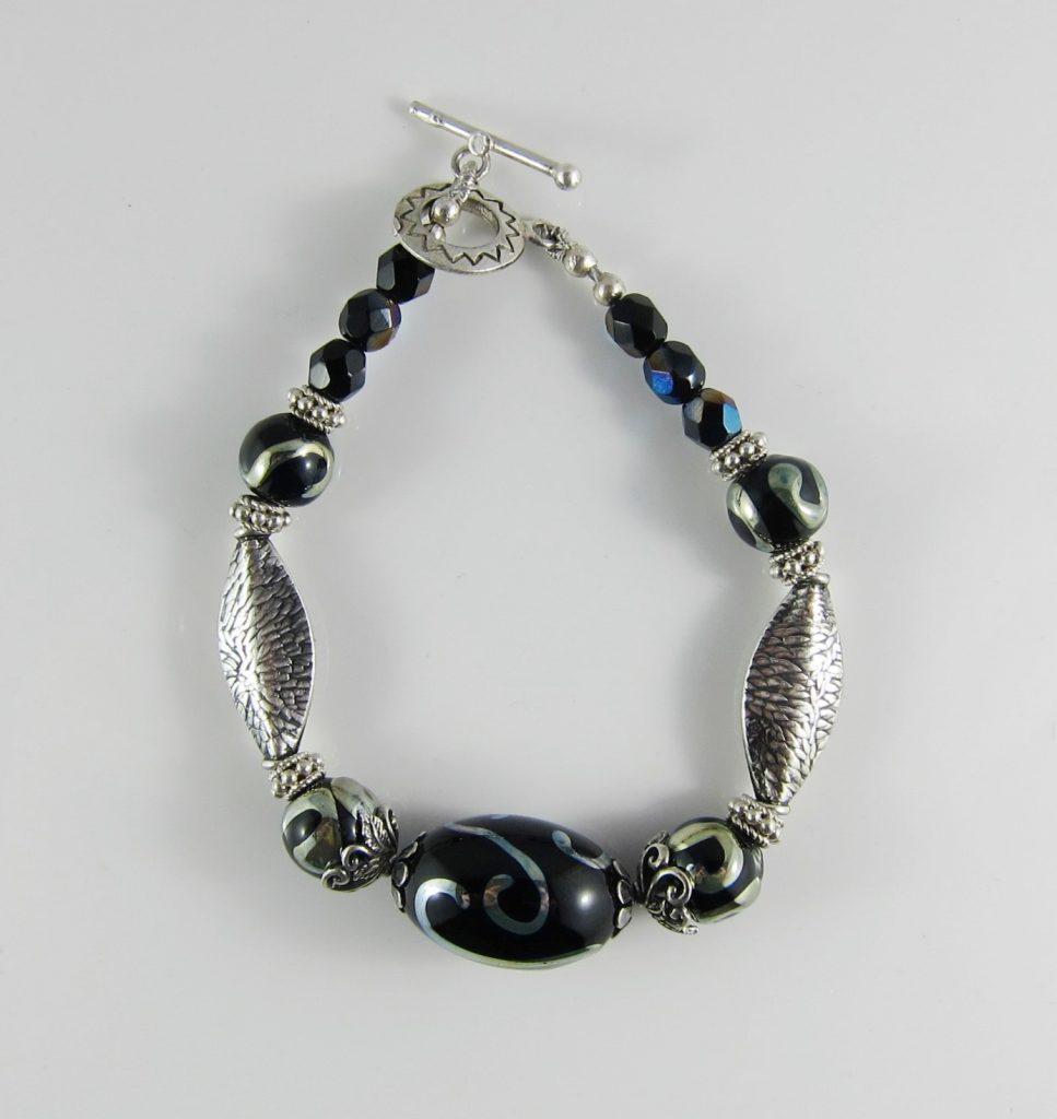 JBR3015 Bracelet Black and Silver