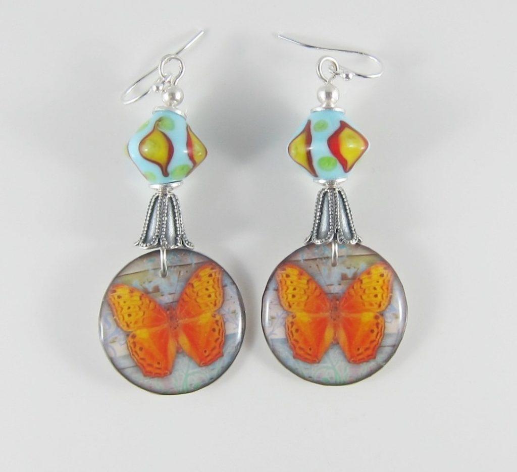 JER2228W Butterfly earrings