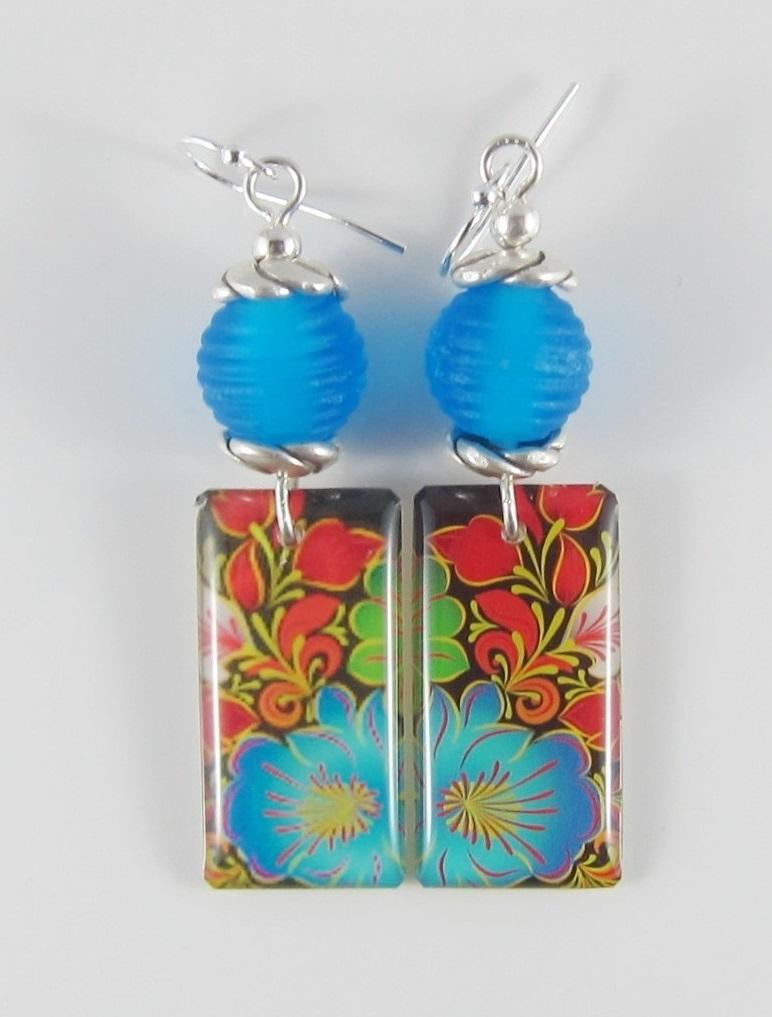 JER2280W Floral earrings