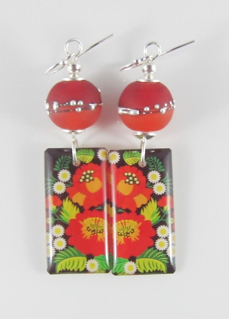 JER2285W Floral earrings