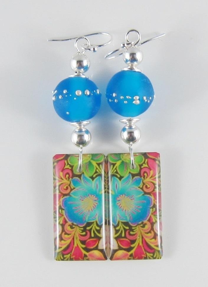 JER2290W Floral earrings
