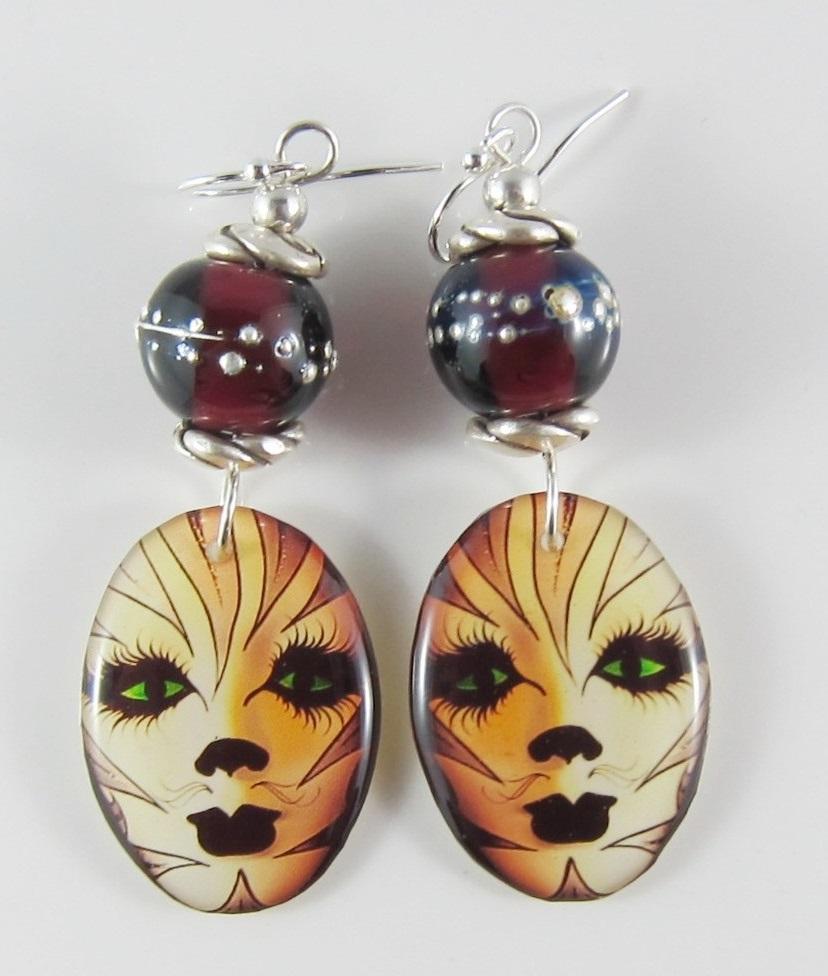 JER2718W Intriging Mask Earrings