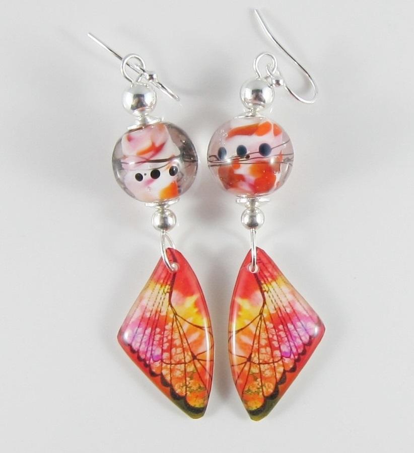 JER3231W Pretty wing earrings